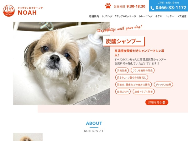 Screenshot of www.dog-noah.jp