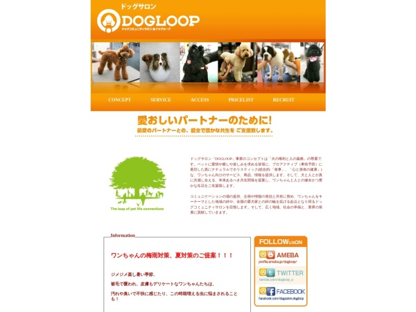 Screenshot of www.dogloop.jp