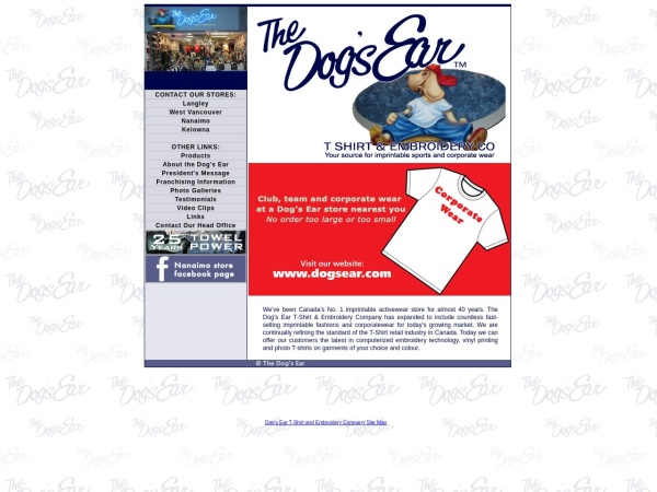 Screenshot of www.dogsear.com