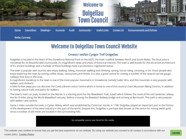 Screenshot of www.dolgellautowncouncil.gov.wales