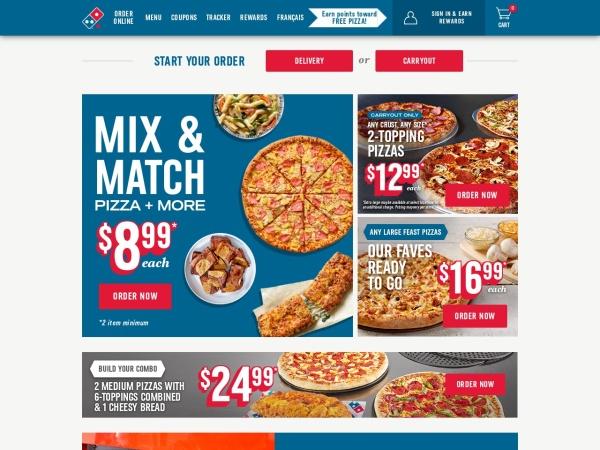 Screenshot of www.dominos.ca