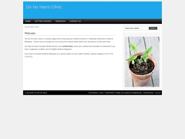 Screenshot of www.donoharmclinic.com