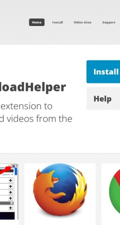 Screenshot of www.downloadhelper.net