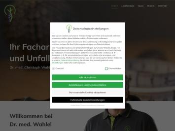 Screenshot von www.dr-wahle-hameln.de