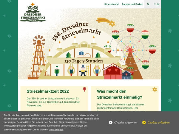 Screenshot von www.dresden.de