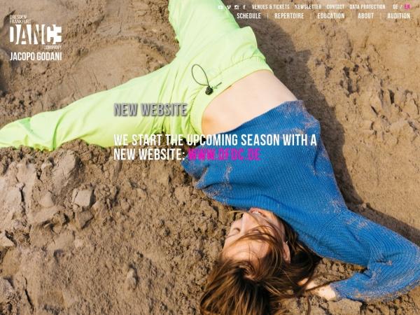 Screenshot of www.dresdenfrankfurtdancecompany.com