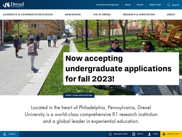 Screenshot of www.drexel.edu