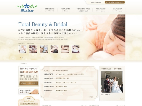 Screenshot of www.e-bluestar.jp