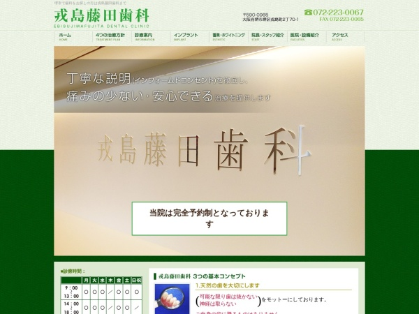 Screenshot of www.e-fujitashika.com