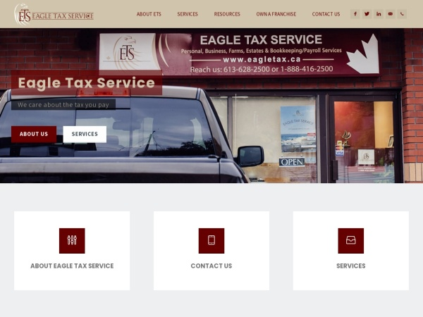 Screenshot of www.eagletax.ca