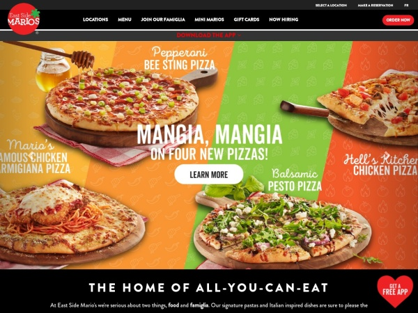 Screenshot of www.eastsidemarios.com