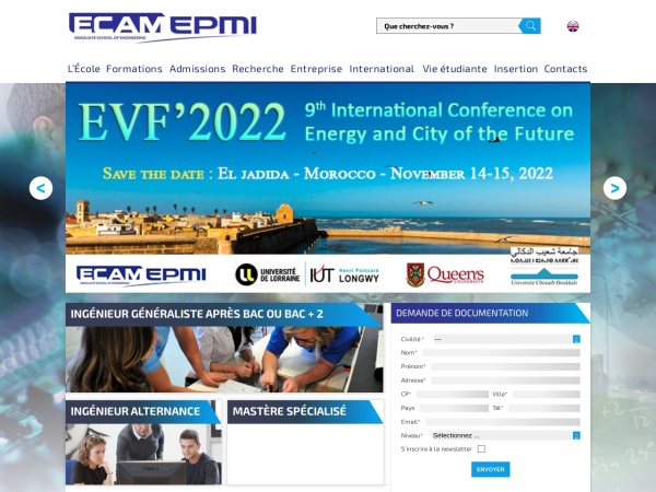 Screenshot of www.ecam-epmi.fr