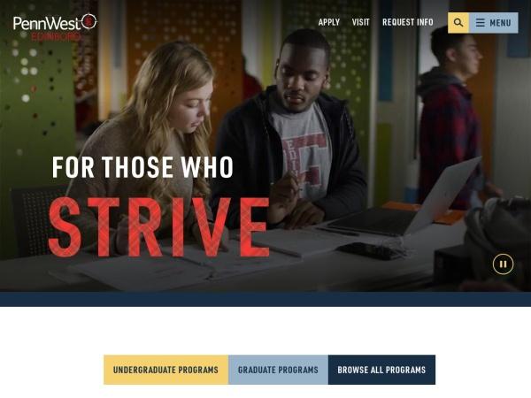 Screenshot of www.edinboro.edu