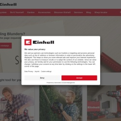 Screenshot of www.einhell.fr