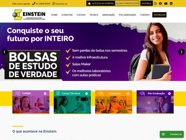Screenshot of www.einsteinlimeira.com.br