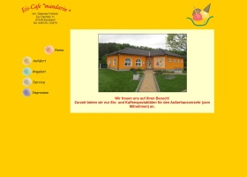 Screenshot of www.eiscafe-mandarin.de