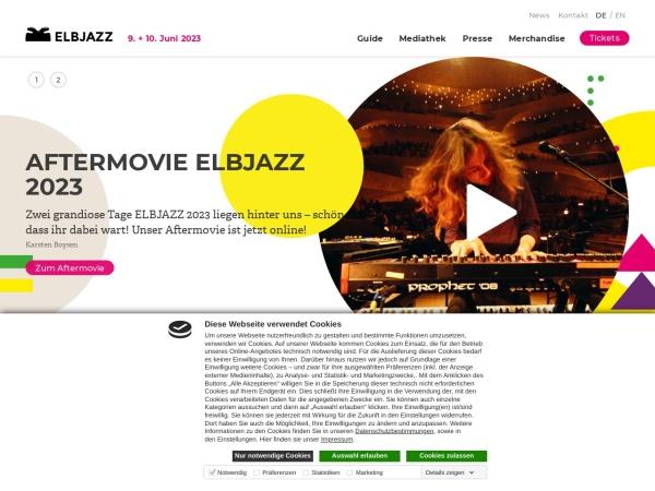 Screenshot von www.elbjazz.de