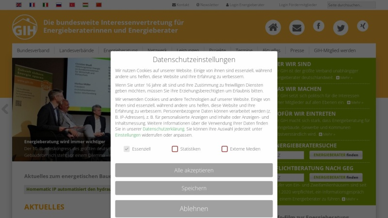 Screenshot of www.energieberater-datenbank.de