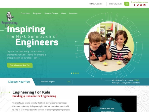 Screenshot of www.engineeringforkids.net