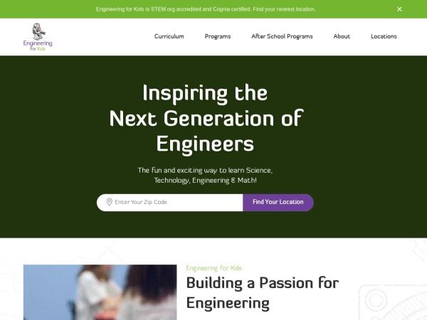 Screenshot of www.engineeringforkids.net