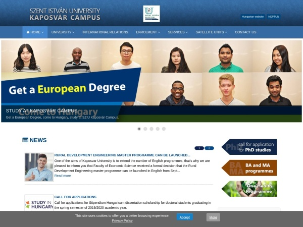 Screenshot of www.english.ke.hu