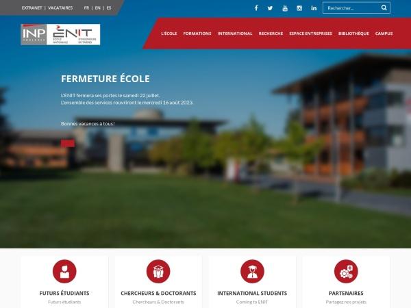 Screenshot of www.enit.fr