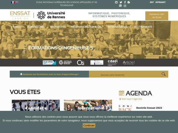 Screenshot of www.enssat.fr