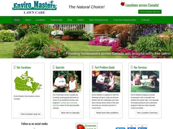 Screenshot of www.enviromasters.com