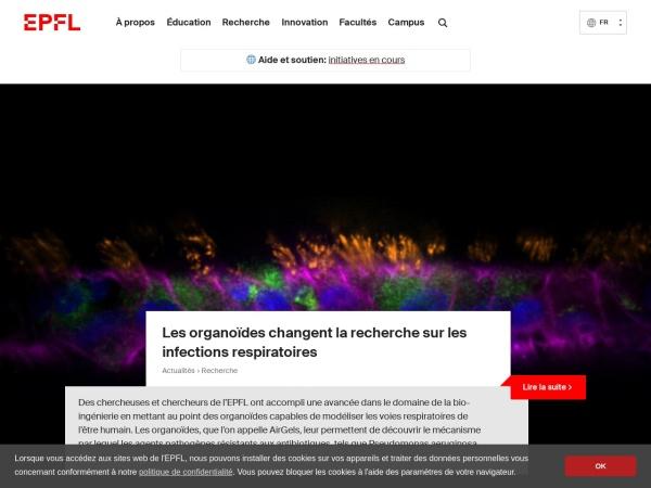 Screenshot of www.epfl.ch