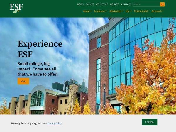 Screenshot of www.esf.edu