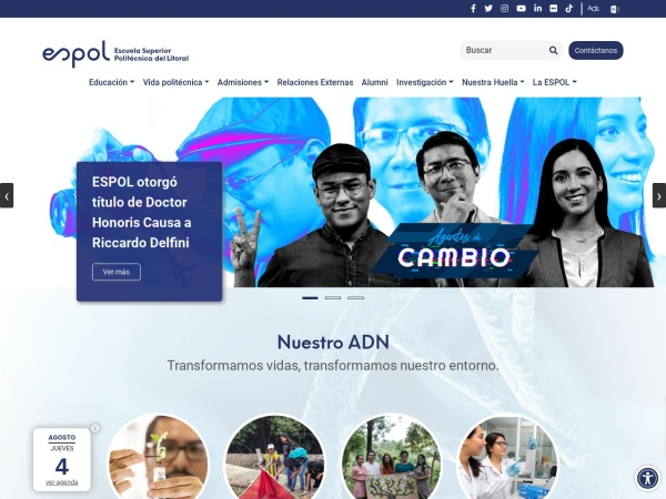 Screenshot of www.espol.edu.ec