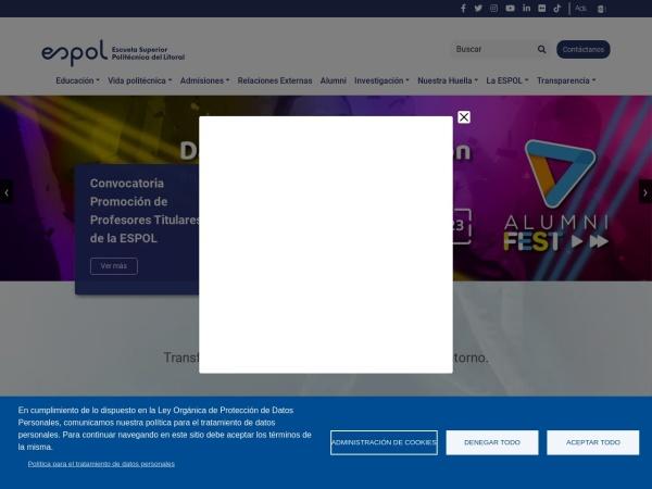 Screenshot of www.espol.edu.ec
