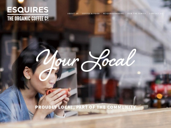 Screenshot of www.esquirescoffee.com