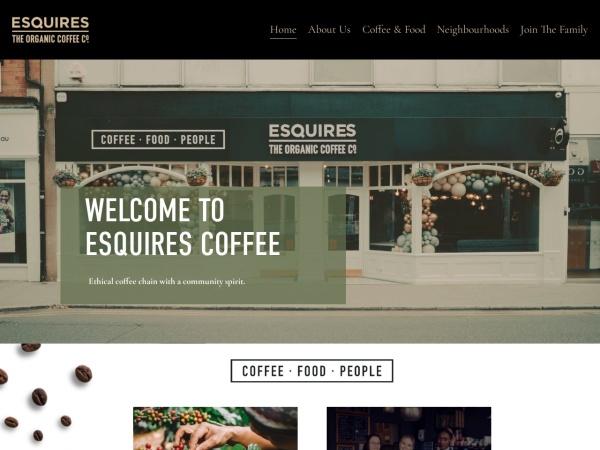 Screenshot of www.esquirescoffee.com