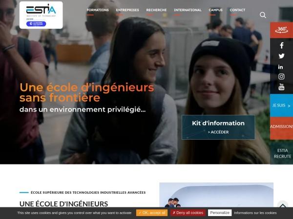 Screenshot of www.estia.fr