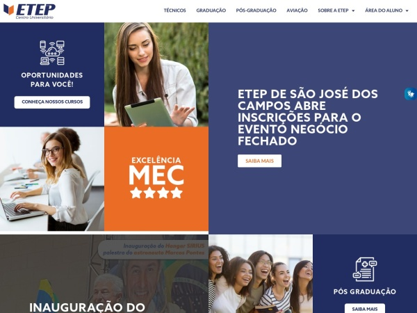 Screenshot of www.etep.edu.br