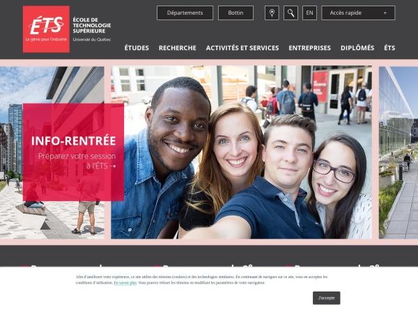 Screenshot of www.etsmtl.ca