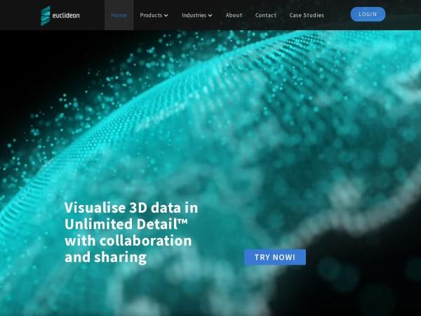 Screenshot of www.euclideon.com