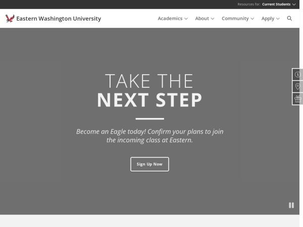 Screenshot of www.ewu.edu