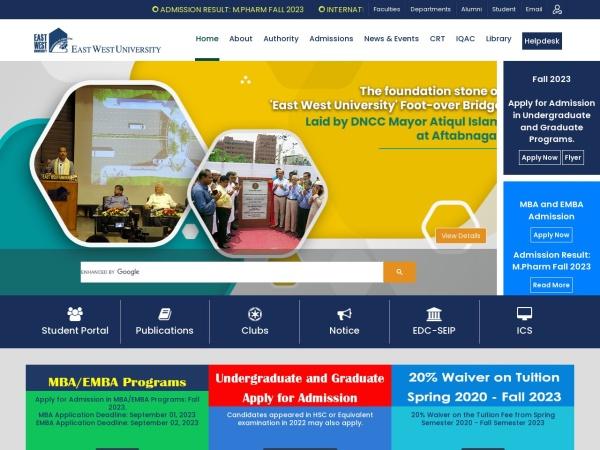 Screenshot of www.ewubd.edu