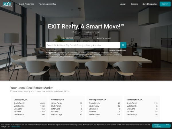 Screenshot of www.exitrealty.com