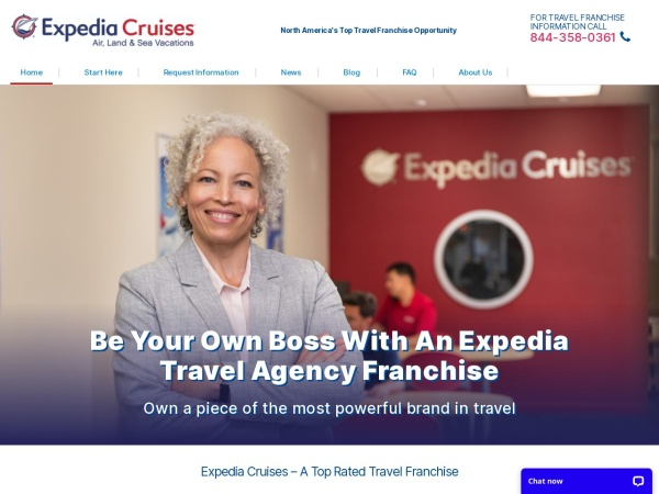 Screenshot of www.expediafranchise.com