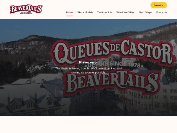 Screenshot of www.explorebeavertails.com