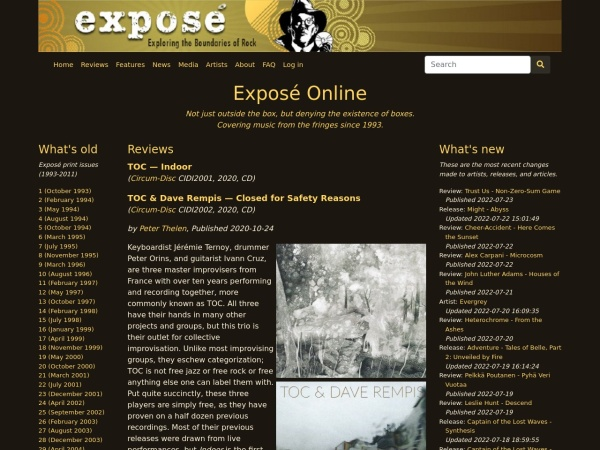 Screenshot of www.expose.org