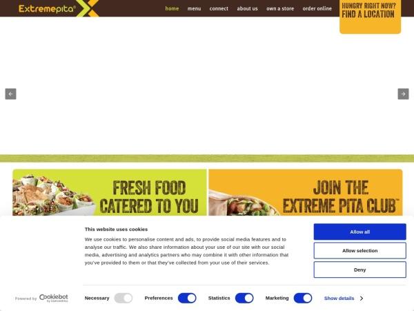 Screenshot of www.extremepita.com