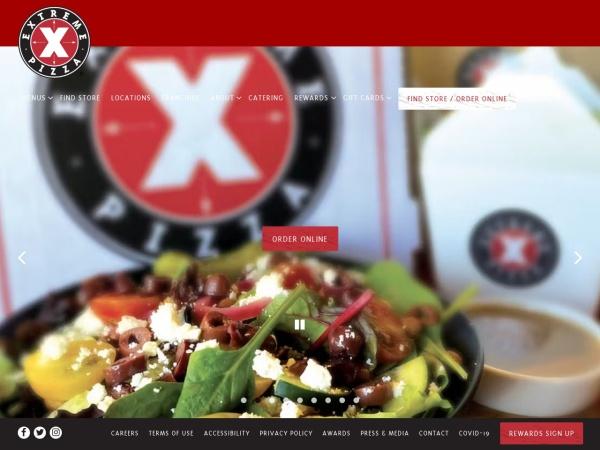 Screenshot of www.extremepizza.com