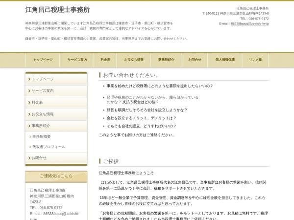 Screenshot of www.ezumizeimu.com