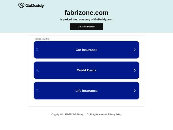 Screenshot of www.fabrizone.com