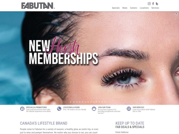 Screenshot of www.fabutan.com