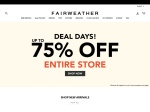 Fairweather Coupon Code